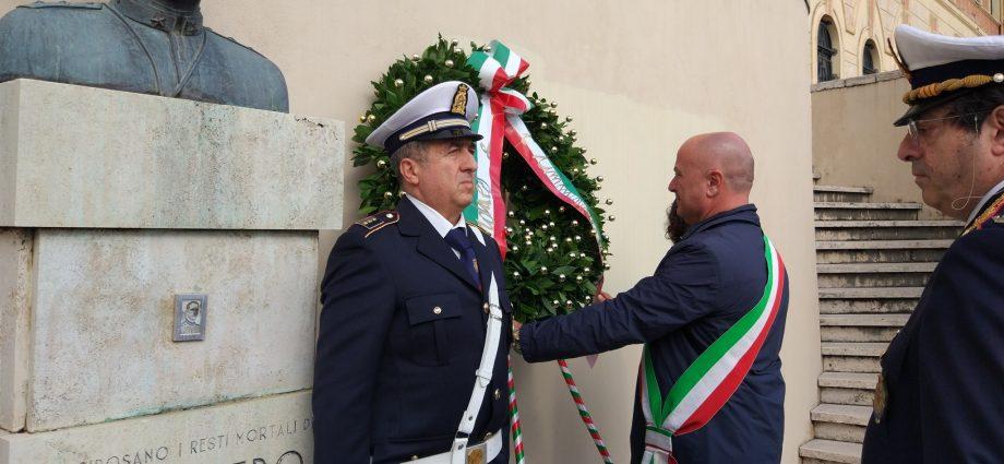 Frosinone, commemorazione di Pietro Tiravanti.Frosinone, commemorazione di Pietro Tiravanti.