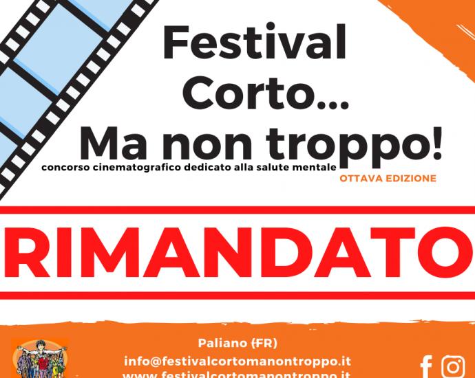 """Paliano, """"Festival Corto...Ma non troppo!"""": Rimandata l'ottava edizione 2"""